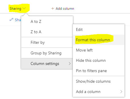 Trigger Flow using Column Formatter and share document to Microsoft